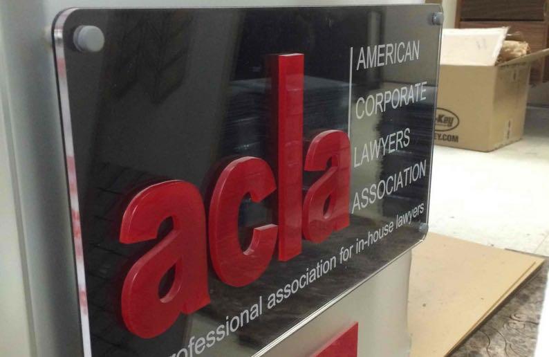 corporate logo laser cutting
