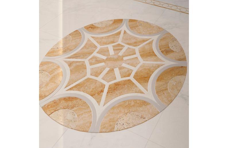 floor medallion waterjet cutting14
