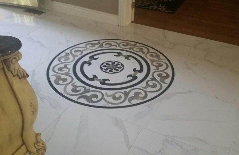 floor medallion waterjet cutting25
