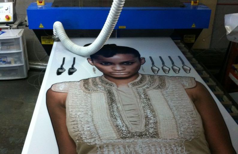 retail display laser cutting